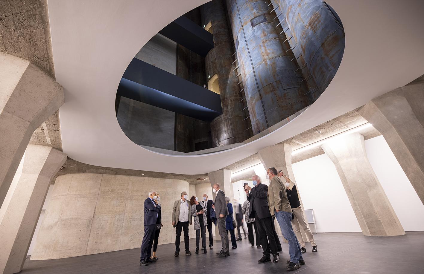 24.9.21 Eröffnung Anbau Museum Küppersmühle in Duisburg. Foto: Georg Lukas, Essen 0171 4114148